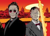 I protagonisti di Good Omens in una celebre illustrazione