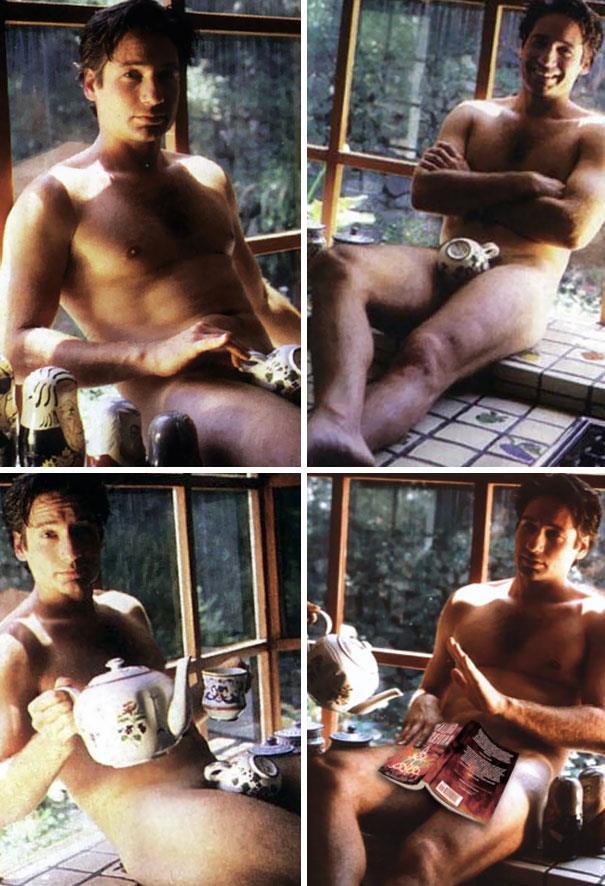 David Duchovny si è fattto fotografare completamente nudo