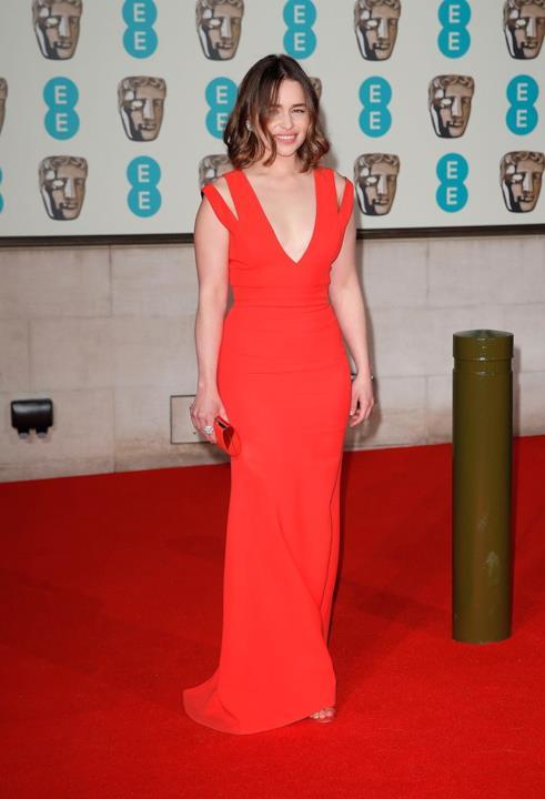Emilia Clarke ai Bafta 2016 a Londra