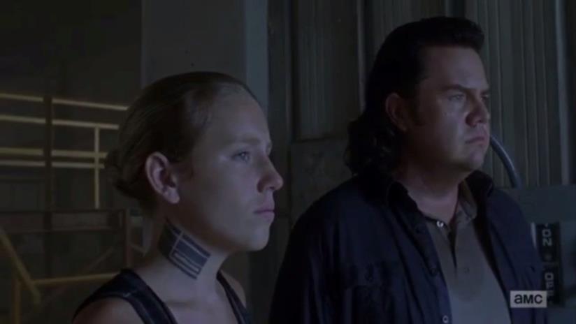 The Walking Dead: Laura con Eugene