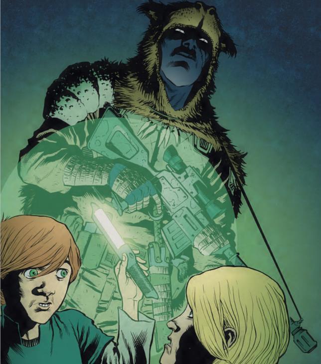 Il cyborg Ishamael, Zeke e una bambina Copperhead