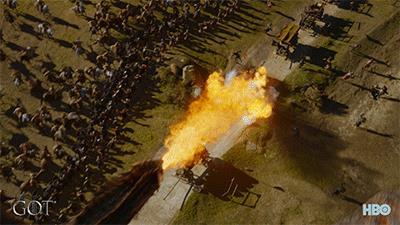 Drogon in azione nell'episodio di GoT 7x04 Spoglie di guerra