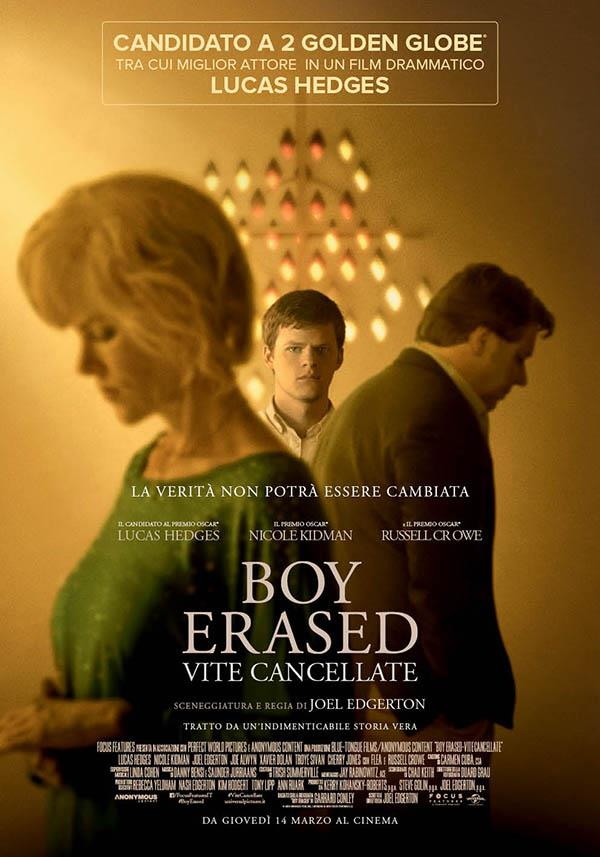 Poster italiano del film di Joel Edgerton Boy Erased - Vite cancellate