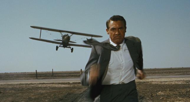 Cary Grant nel film Intrigo internazionale
