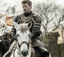 Nikolaj Coster-Waldau nei panni di Jaime Lannister durante l'assedio di Delta delle Acque