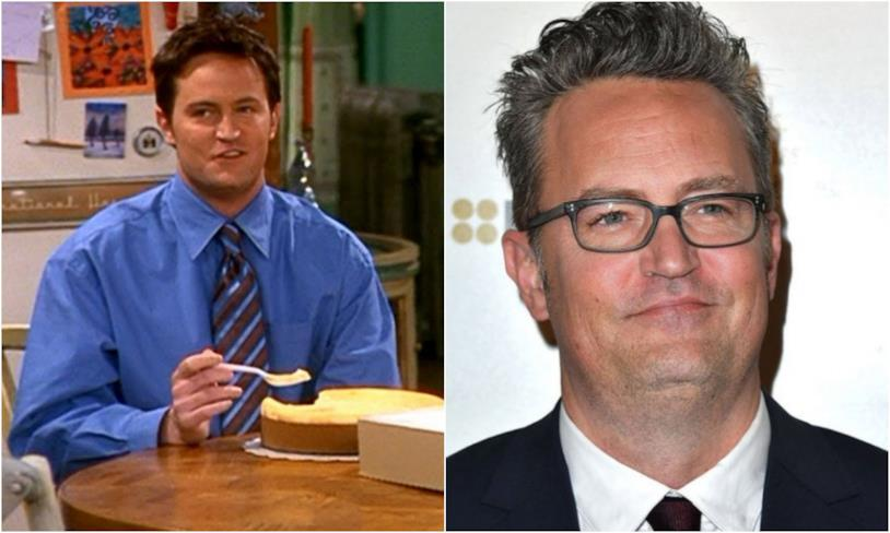 Collage tra Chandler Bing e Matthew Perry