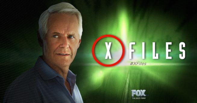 Chirs Carter in un'immagine promozionale di X-Files 11