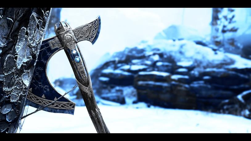 L'ascia di Kratos abbandonata a sé stessa in God of War