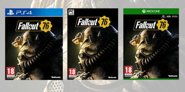 Le boxart di Fallout 76