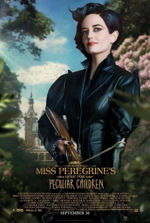 Eva Green nel character poster di Miss Peregrine