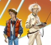 Le versioni videoludiche di Doc Brown e Marty McFly