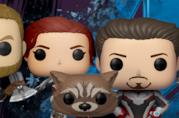 Thor, Vedova Nera, Rocket, Iron Man e Capitan America in versione Funko Pop!