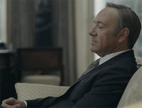 Kevin Spacey nel ruolo di Frank Underwood
