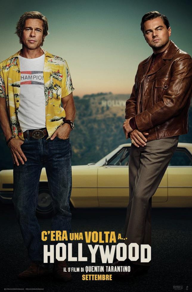 Il poster ufficiale di C'era una volta a Hollywood