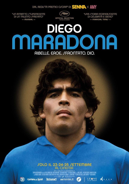 Il poster del docu-film Diego Maradona