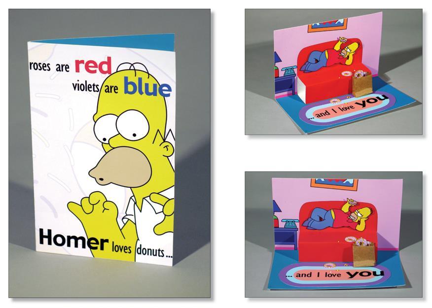 Homer in un biglietti di San Valentino di kittybox