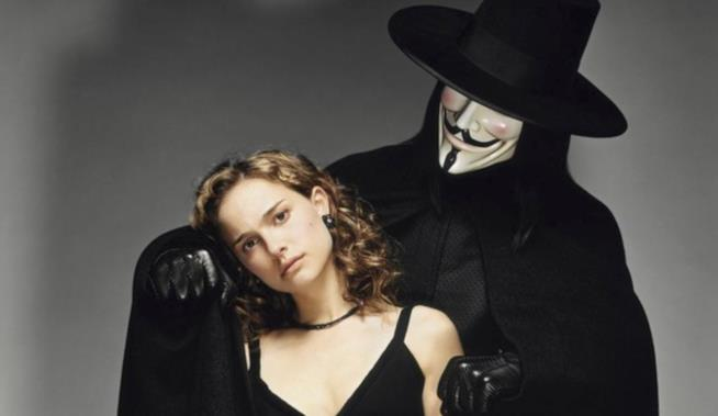 Una scena di V per Vendetta
