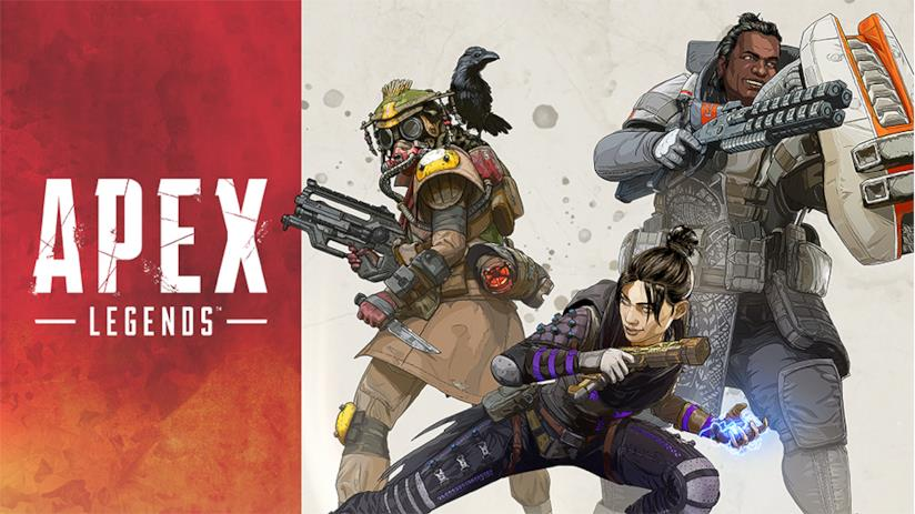Un concept art dei protagonisti di Apex Legends