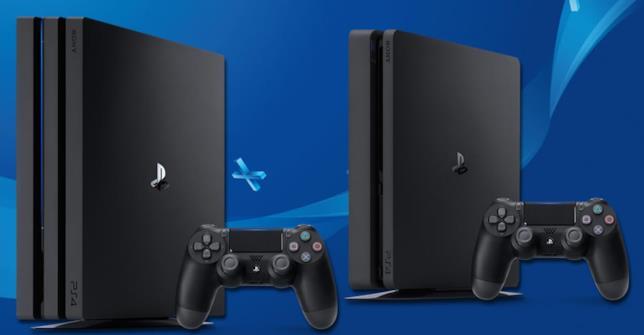 PS4 Pro e PS4 in un'immagine promozionale di Sony