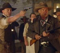 Harrison Ford e Daniel Craig in una scena di Cowboys and Aliens