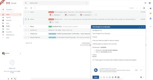 Con il nuovo aggiornamento di Gmail, le email si potranno autodistuggere