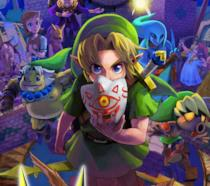 Link nella cover art ufficiale di The Legend of Zelda: Majora's Mask