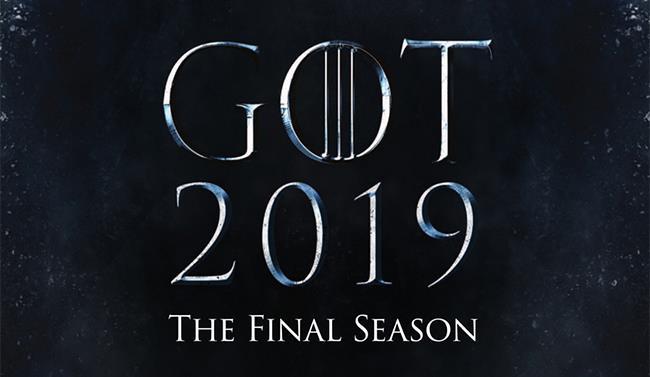 Il poster di GoT 8 con il logo e l'anno 2019