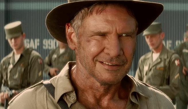 Harrison Ford nel ruolo di Indiana Jones