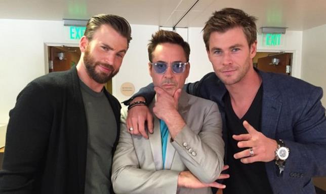Chris Evans, Robert Downey Jr. e Chris Hemsworth i pilastri del MCU