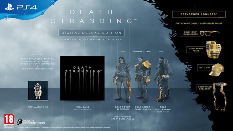Death Stranding nella sua Digital Deluxe Edition