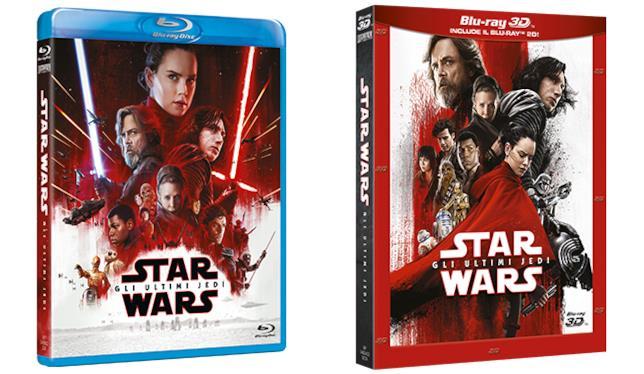 Packshot di Gli Ultimi Jedi in versione Blu-ray e Blu-ray 3D