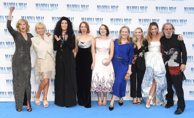Il cast femminile di Mamma Mia! Ci risiamo