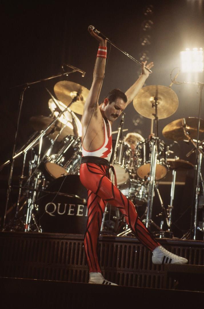 Freddie Mercury sul palco