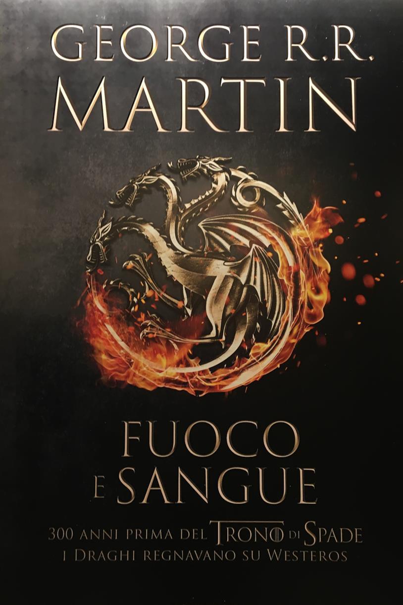 La copertina italiana di Fuoco e sangue