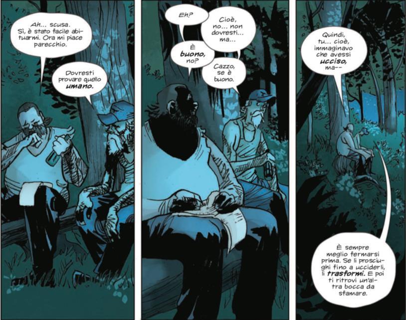 Bartlett e Landry parlano nel bosco