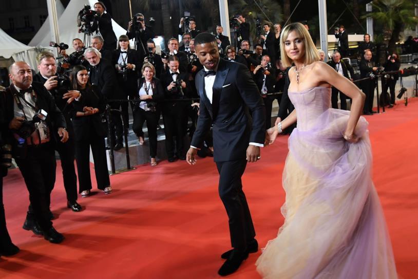 Micheal B Jordan e Sofia Boutella sul red carpet di Cannes
