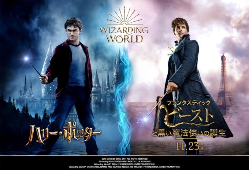 Harry Potter e Newt Scamander sui poster giapponesi del Wizarding World