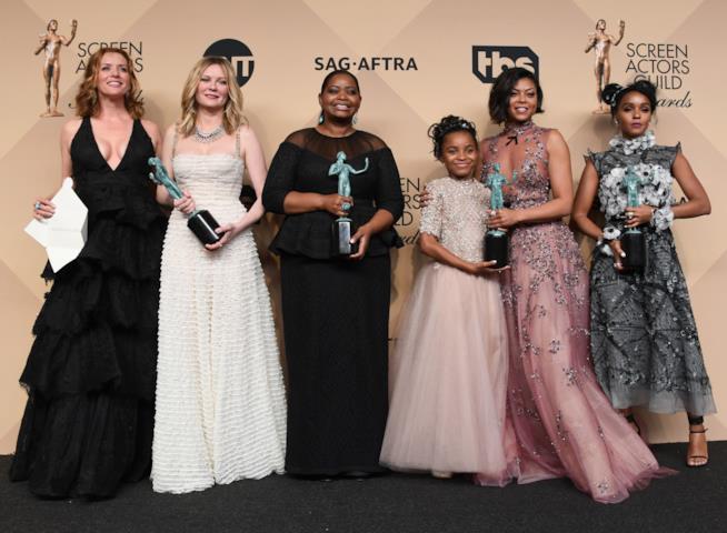 Kimberly Quinn, Kirsten Dunst, Octavia Spencer, Saniyya Sidney, Taraji P. Henson e Janelle Monael ai SAG Awards 2017