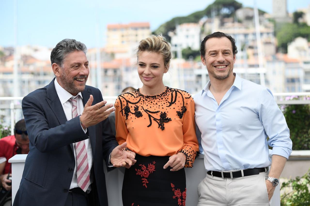 Sergio Castellitto, Jasmine Trinca e Stefano Accorsi al photocall di Fortunata