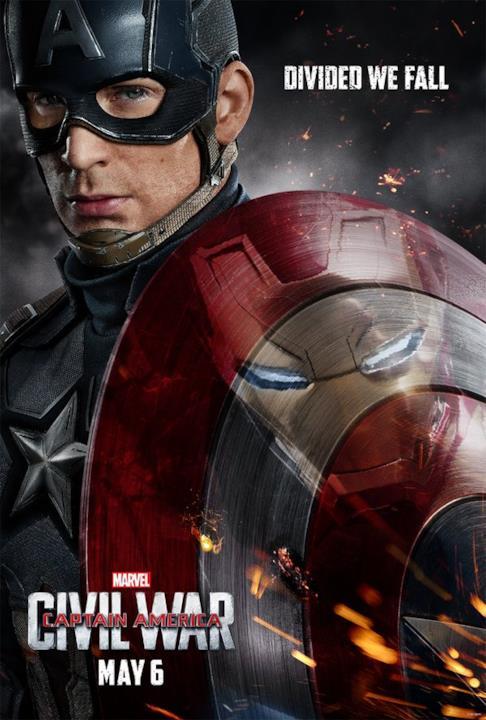 Capitan America nella locandina di Captain America: Civil War
