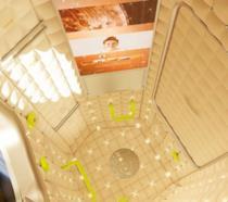 Interni della Axiom Station: oblò, LED e luci