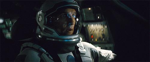 Matthew McConaughey in una scena di Interstellar