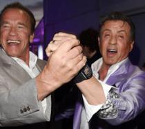 Una foto di Schwarzenegger e Stallone