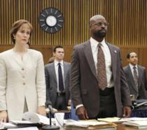 Una scena dal set di American Crime Story: Il caso O.J. Simpson