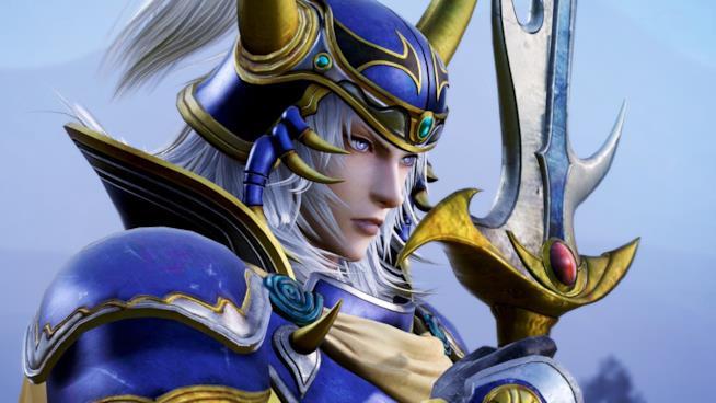 Un primo piano del Guerriero della Luce in Dissidia Final Fantasy NT
