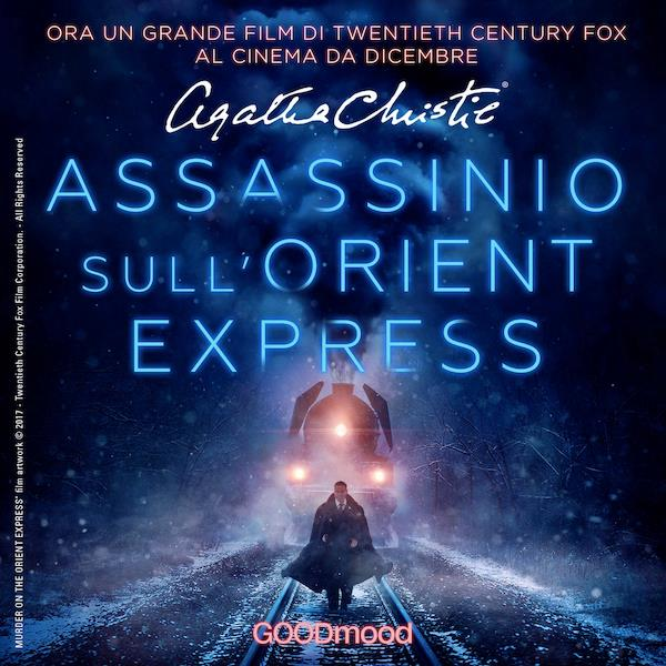 La copertina dell'audiolibro di Assassinio sull'Orient Express