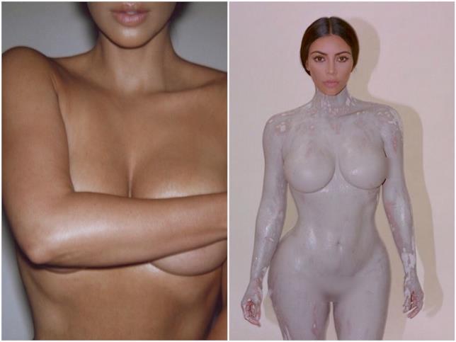 Kim Kardashian realizza un calco del corpo per un nuovo profumo