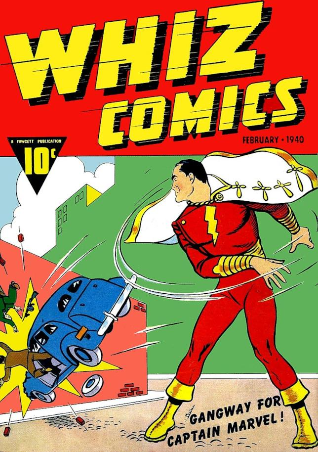 Copertina del numero del fumetto in cui appare per la prima volta Shazam