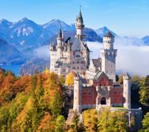 Il castello della Bella Addormentata nel Bosco in Baviera