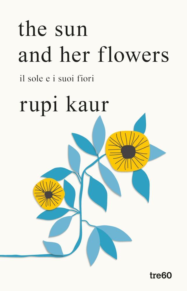 Copertina con un fiore giallo e azzurro